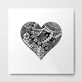 Abstract Heart Metal Print