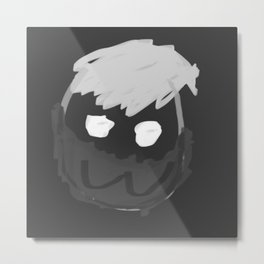 Mew Face mask Metal Print