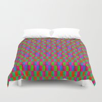 quilt Duvet Covers featuring Caterpillar Quilt by Peter Gross