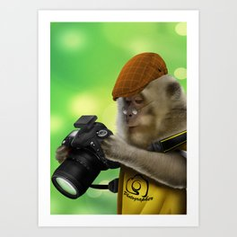 Photographer of the apes Art Print