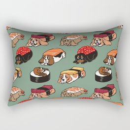 Sushi  Basset Hound Rectangular Pillow