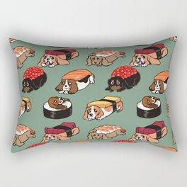 Sushi  Basset Hound Rectangular Pillow
