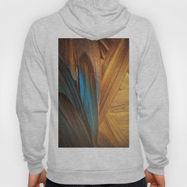 gold yellow and  blue paint Hoody