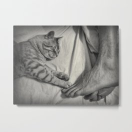 Life is Better With a Cat Metal Print