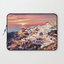 Santorini Sunset View Laptop Sleeve