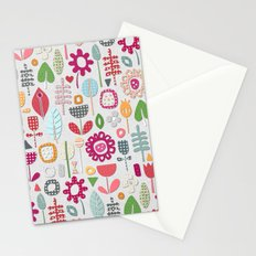 paper cut flowers silver Stationery Cards