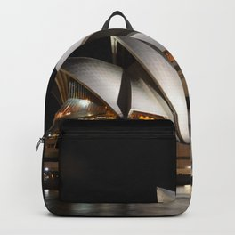 Australia Photography - The Sydney Opera House Lit Up In The Dark Night Backpack