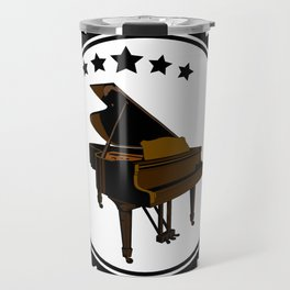 Vintage Piano Keyboard Music Player Travel Mug