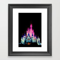 disney castle Framed Art Print