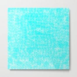 Speckled Robbin Egg Blue Metal Print