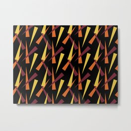 Abstract Carrots Metal Print