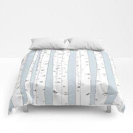 Aspen Forest - Blue Grey Comforters