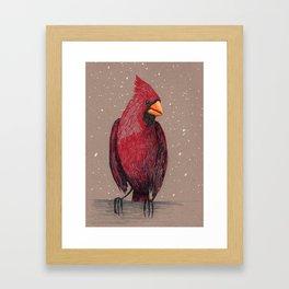 Winter Cardinal Framed Art Print