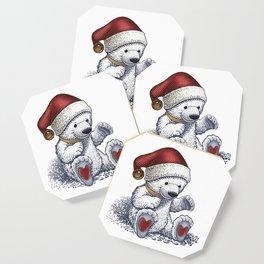 Polar Bear Loves Christmas Coaster