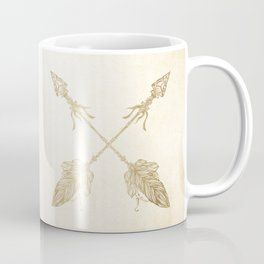 Tribal Arrows Gold on Paper Coffee Mug