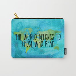 The World Belongs to Those Who Read - Watercolour Carry-All Pouch