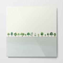 A Row Of Trees Metal Print