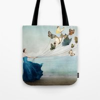 wonderland Tote Bags featuring Wonderland by Christian Schloe
