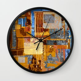 Meandering the Cellar of Peace Contemporary Abstract Wall Clock