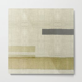 """Burlap Texture Natural Shades"" Metal Print"