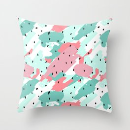 Pastel Camo Throw Pillow