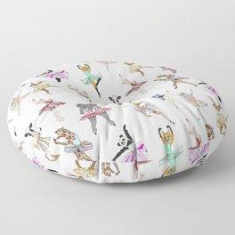 Animal Ballerinas Floor Pillow