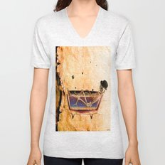 Monsieur Bone in the bathroom Unisex V-Neck