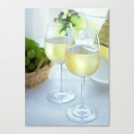 Crisp White Wines in the Window Canvas Print