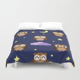 Sleepy owl Duvet Cover