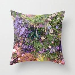 A Florist's Ceiling Garden Throw Pillow