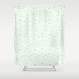 Leaves in Wintergreen Shower Curtain