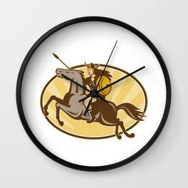 Valkyrie Amazon Warrior Horse Rider Wall Clock