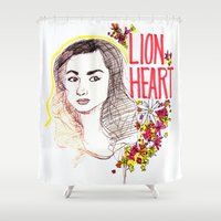 allison argent Shower Curtains featuring Queen Argent by Grit Spit and a Whole Lot of Duct tape