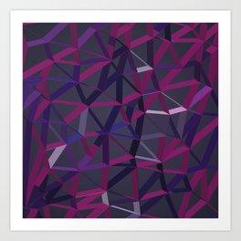 3D Futuristic GEO Lines XV Art Print