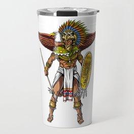 Aztec Eagle Warrior Native Indian Mexican Travel Mug