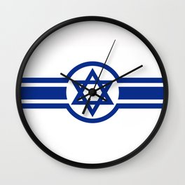 Eastern Israeli Belt Flag for the area of East of Israel Wall Clock