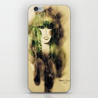 emerald iPhone & iPod Skins featuring Emerald by Cornelia Baciu