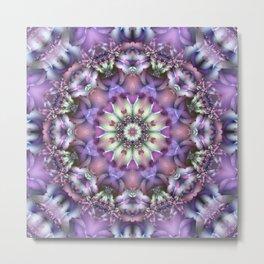 Lilac Mandala Metal Print