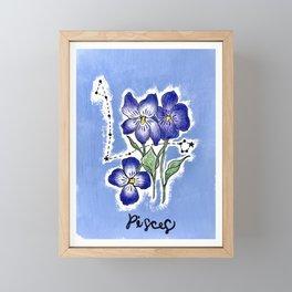 February Pisces Framed Mini Art Print