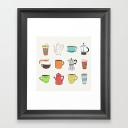 Coffee Lover Framed Art Print