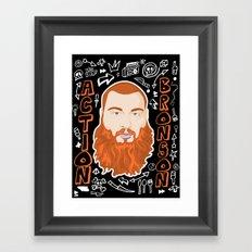 Action Bronson Portrait Framed Art Print