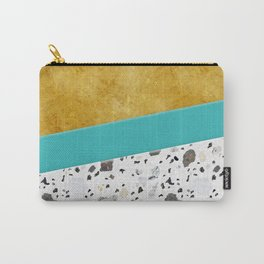 Terrazzo&Gold Carry-All Pouch