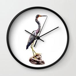 The Gentle Graceful Heron Wall Clock