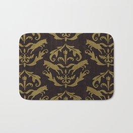 Fox Damask Bath Mat