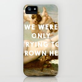 The Birth of Venus (1863), Alexandre Cabanel // The Little Mermaid (1989), Ron Clements&John Musker iPhone Case