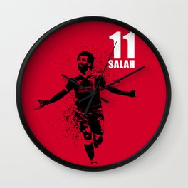 SPORTS ART #SALAH THE KING on red Wall Clock
