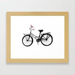 Baker's bicycle with bird Framed Art Print