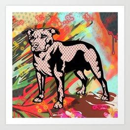 Super dog pop art Art Print