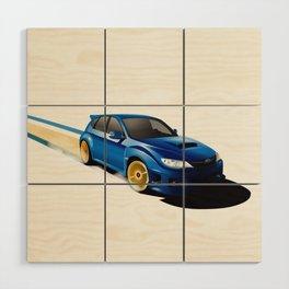 Blue Wonder Wood Wall Art