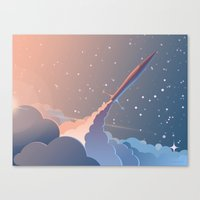 rocket Canvas Prints featuring Rocket by TheNewVision